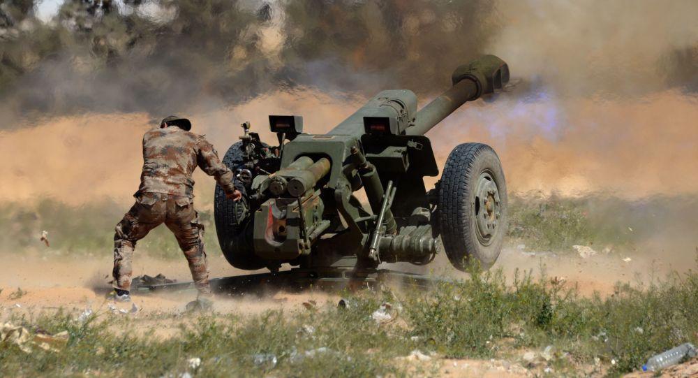 Houfnice D-30 v Sýrii