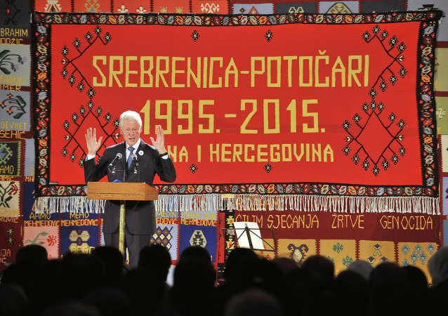 Bill Clinton v Srebrenici