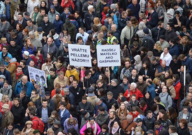 Protest v Bratislavě