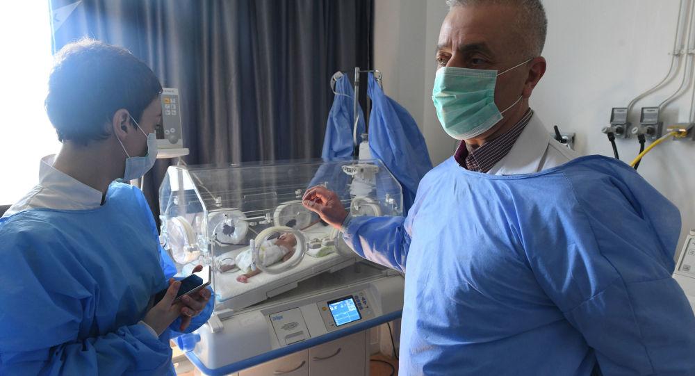 Dětské oddělení nemocnice v Sýrii, archivní foto