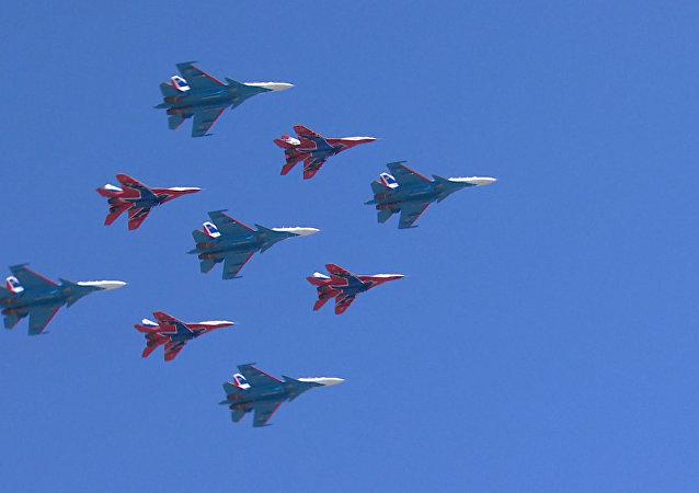 Příprava ke Dni vítězství v Moskvě