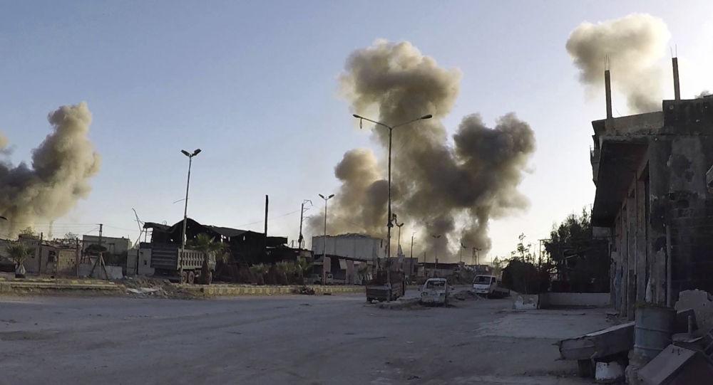 Ostřelování syrského města Dúma