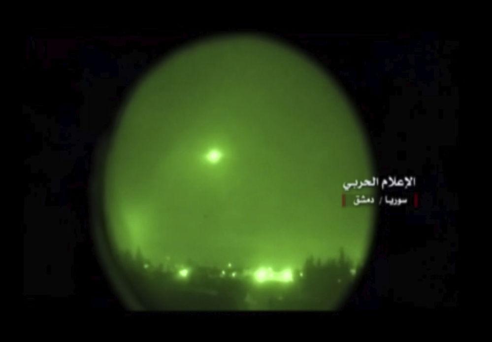 Noční útok na Sýrii
