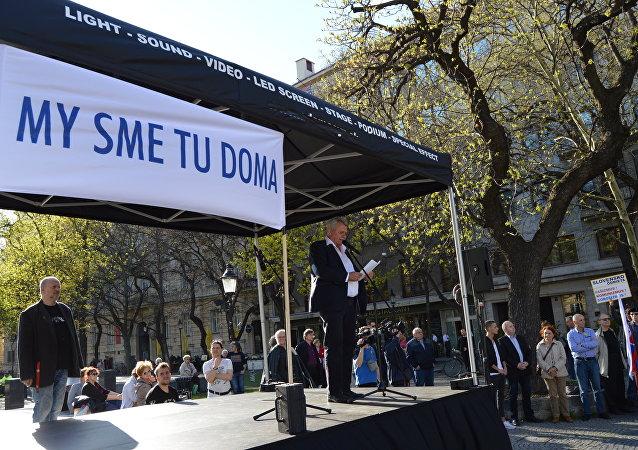 V Bratislave sa protestovalo proti vyhosteniu diplomatov Ruska a pokusom o štátny prevrat