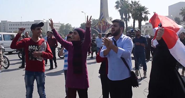 Názor občanů Damašku na útok USA, Francie a Velké Británie