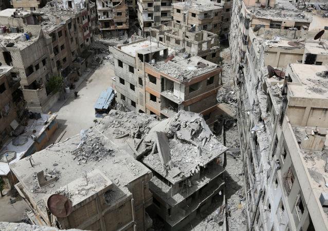 Zříceniny v Dúmě, Sýrie