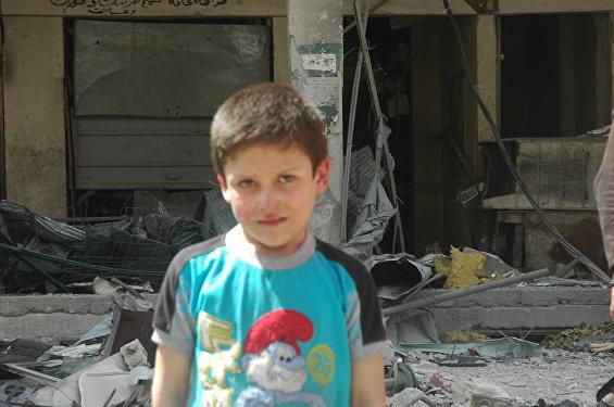 Chlapec Mustafa z města Dúmá