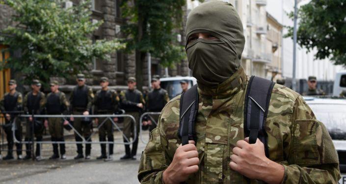 Mítink Pravého sektoru v Kyjevě