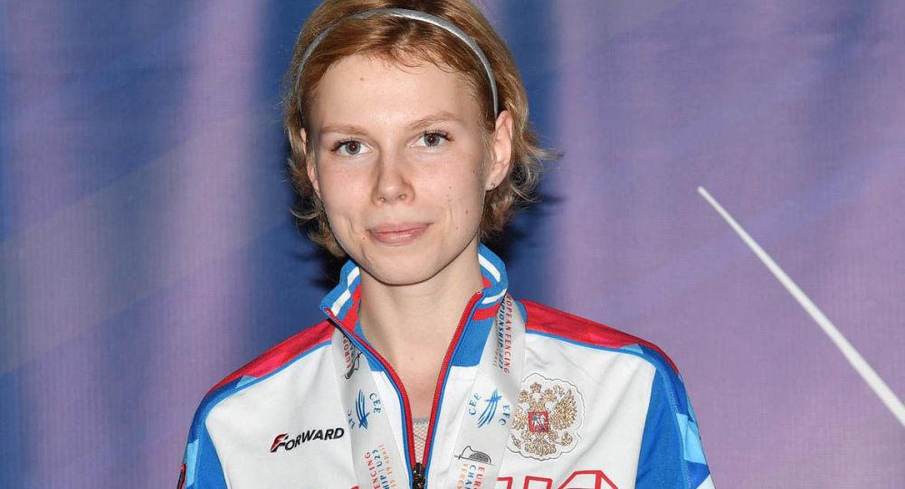 Ruská šermířka Valeria Bolšakovová