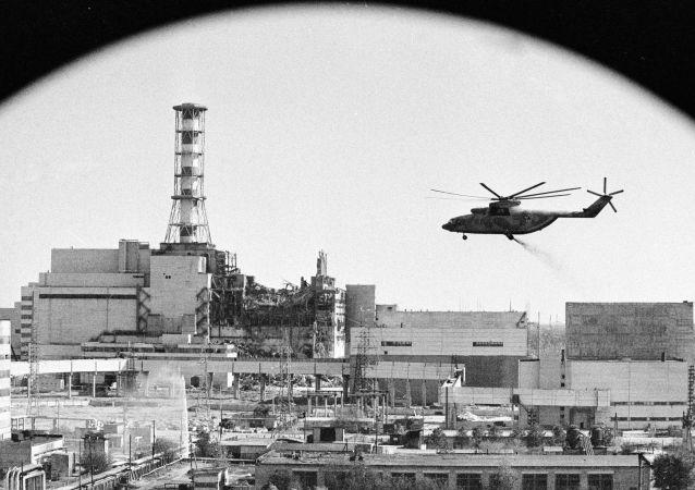 Dezaktivace Černobylské jaderné elektrárny. Historické foto