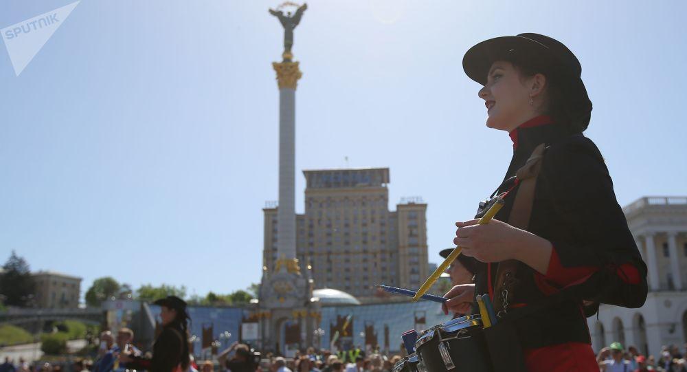 Prvomájská demonstrace v Kyjevě