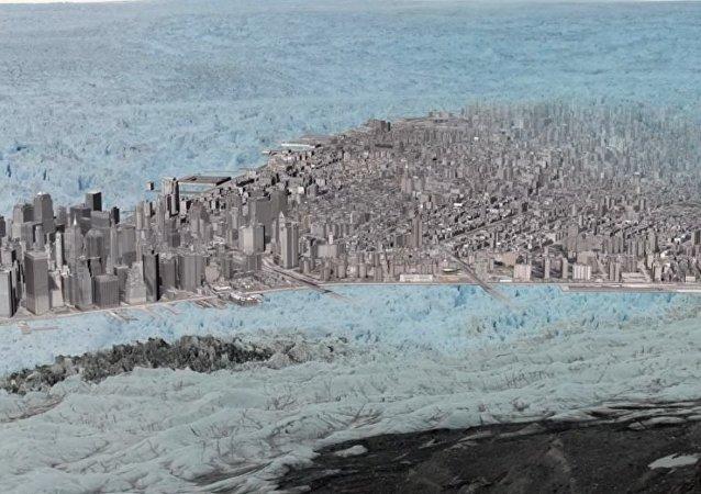 Jak se rozděluje obří ledovec
