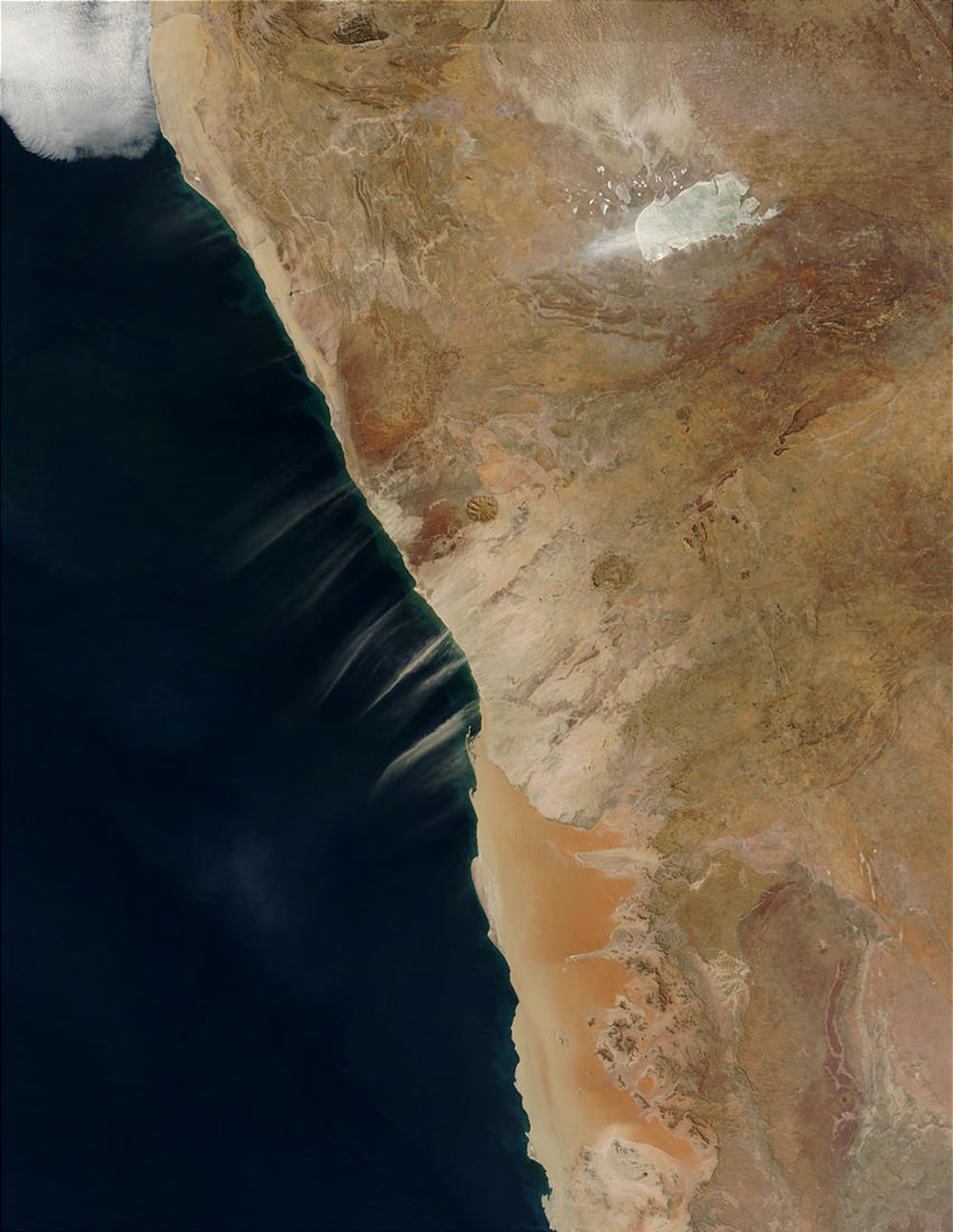 Pobřeží Koster na satelitním snímku NASA