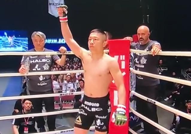 Japonský bojovník MMA vyřadil Američana za devět vteřin
