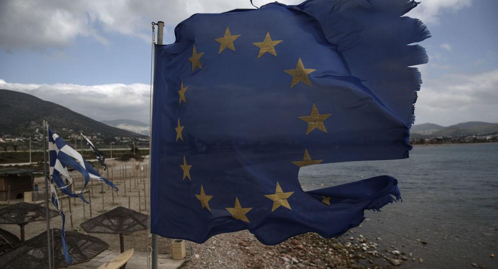 Vlajka EU v Řecku