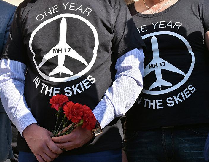 Lidé v tričkách MH17, One year in the skies