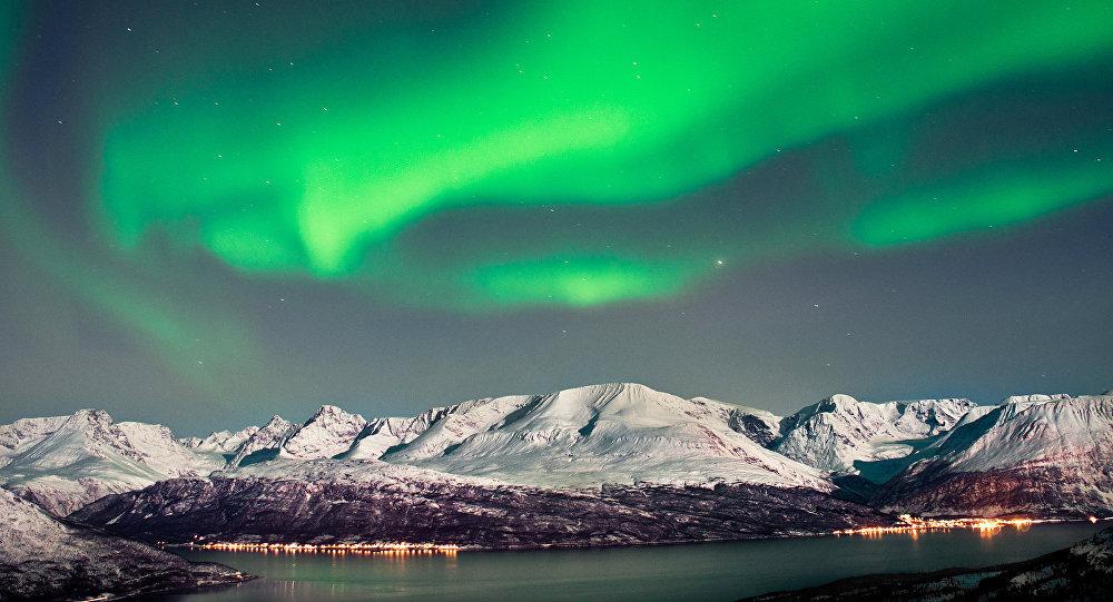 Polární záře v Arktidě