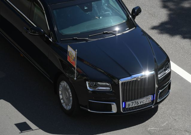 Automobil Aurus ruského prezidenta Vladimira Putina