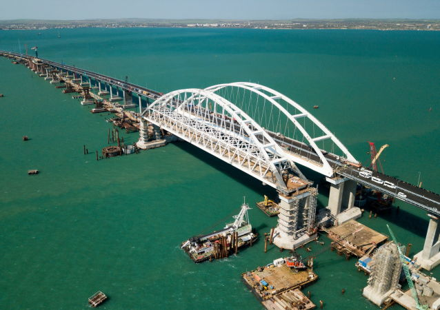 stavba Kerčenského mostu
