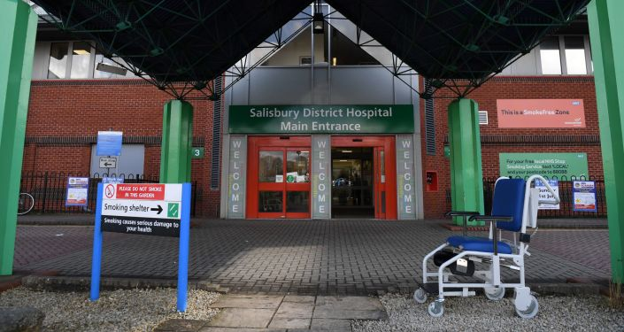Vchod do nemocnice v Salisbury