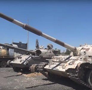 Syrská armáda ukázala tanky, které zanechali teroristé