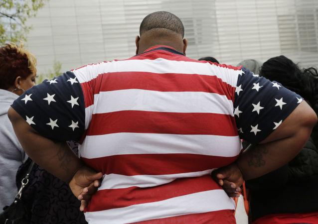 Obézní člověk. Ilustrační foto