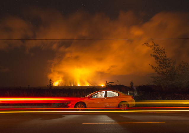 Vulkán na Havaji se pokračuje v erupci