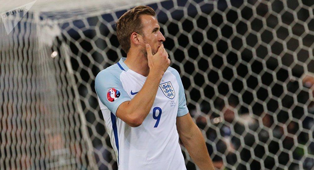 Harry Kane při zápase Anglie - Rusko v roce 2016