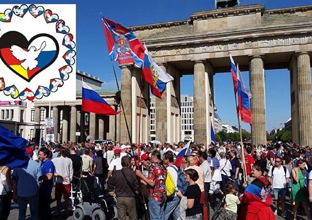Účastníci Freundschaftsfahrt v Berlíně