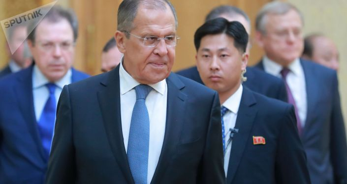 Ruský ministr zahraničí Sergej Lavrov v KLDR