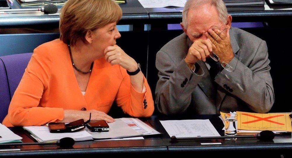Angela Merkelová a Wolfgang Schäuble