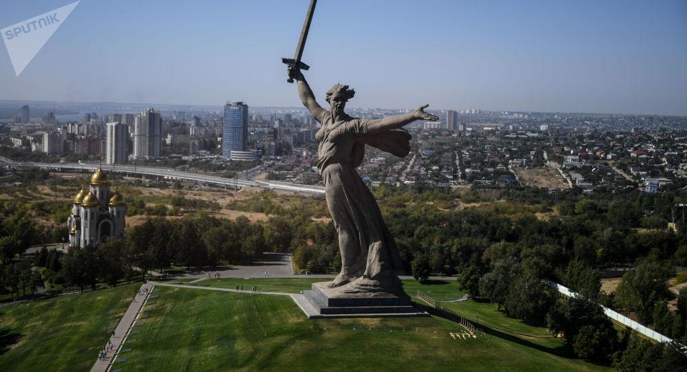 Výhled na Volgograd
