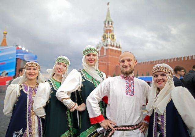Koncert na Rudém náměstí věnovaný Dni Ruska