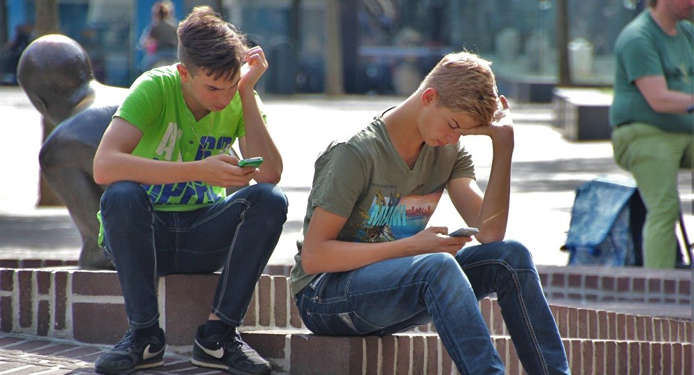 Dospívající šíření fotky