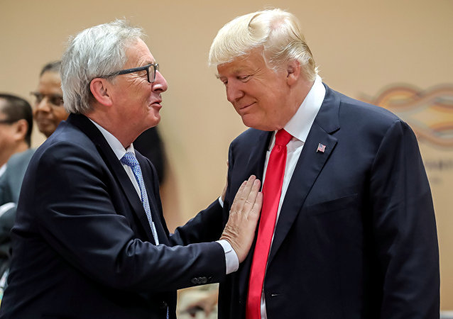 Donald Trump a Jean-Claude Juncker