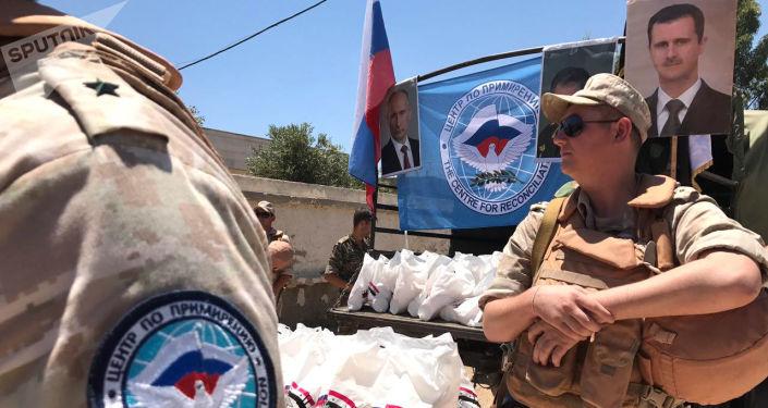 Ruské středisko pro usmíření znepřátelených stran dopravilo humanitární pomoc do Sýrie