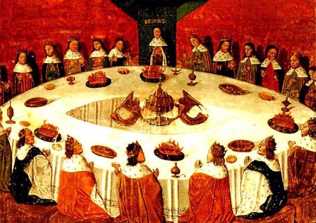 Král Artuš a rytíři u kulatého stolu
