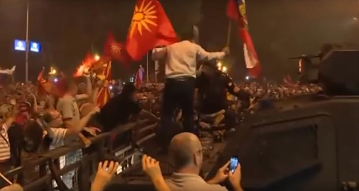 Protesty v Makedonii