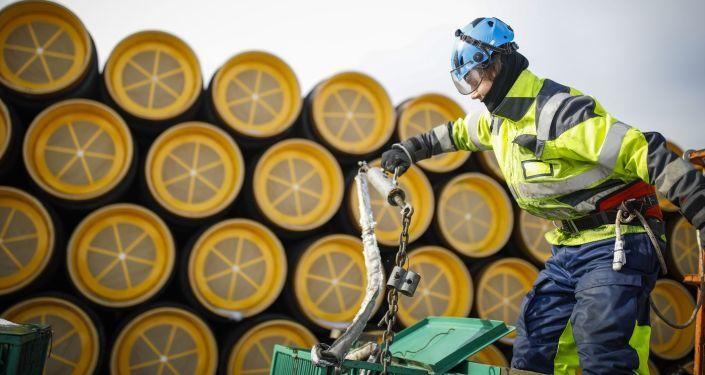 Roury pro Severní proud ve finském Koverharu