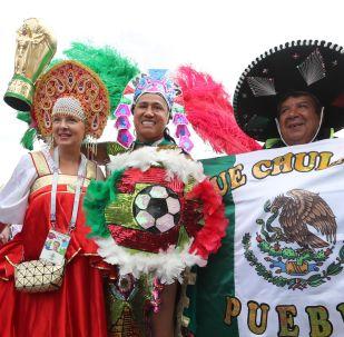 Fanoušci týmů Argentiny, Mexika a Ruska. Ilustrační foto