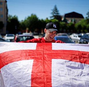 Britský fanoušek na MS 2018. Ilustrační foto