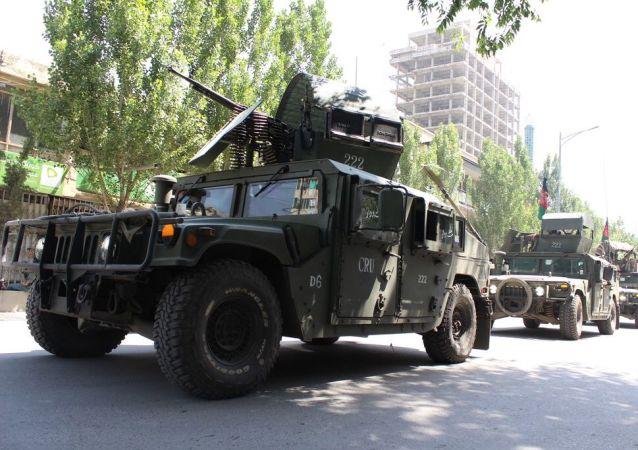 Afghánští policisté v Kabulu