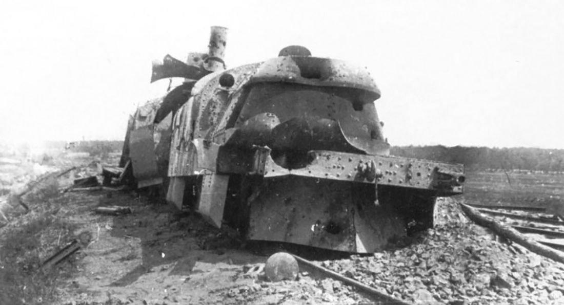 Obrněný vlak Chunchuz  po porážce