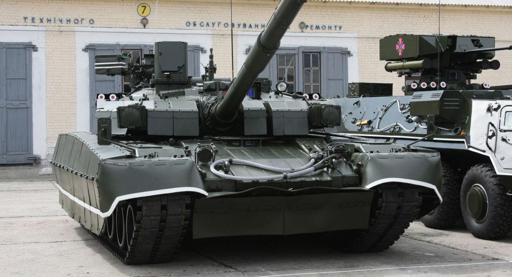 Tank T-84U Oplot Ozbrojených sil Ukrajiny