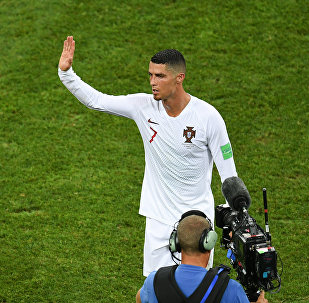 Cristiano Ronaldo po prohraném zápase s Uruguayí na MS 2018