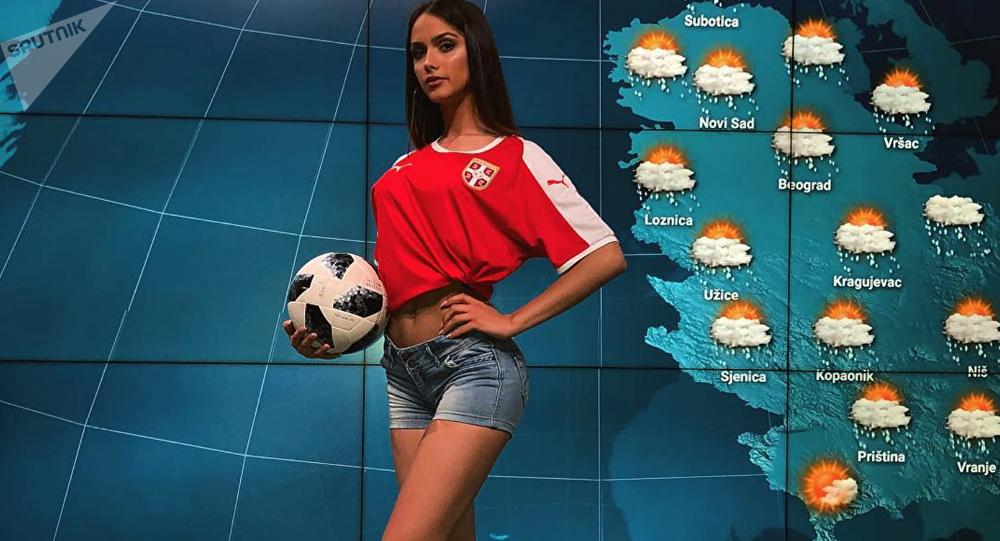 Srbská hlasatelka počasí Sara Damjanovič