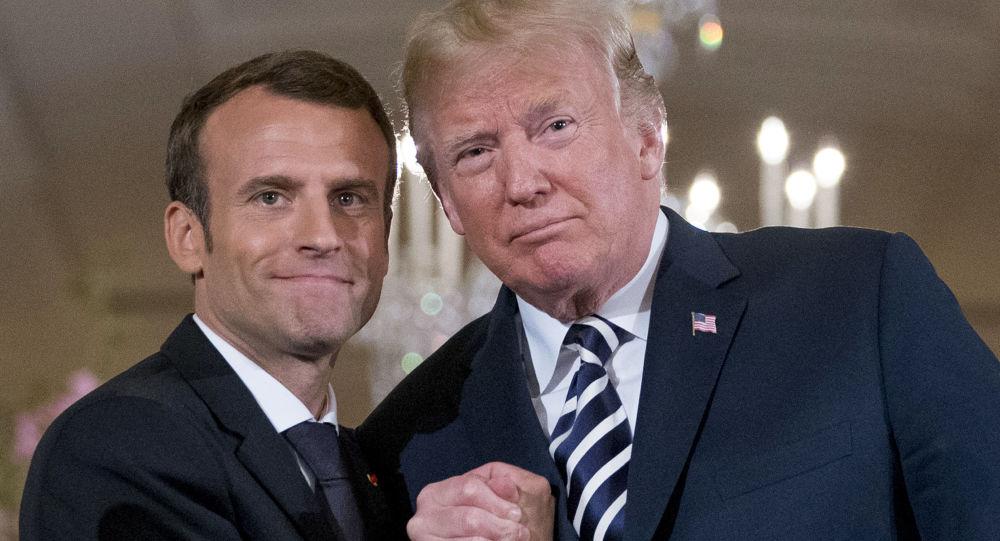 Emmanuel Macorn a Donald Trump
