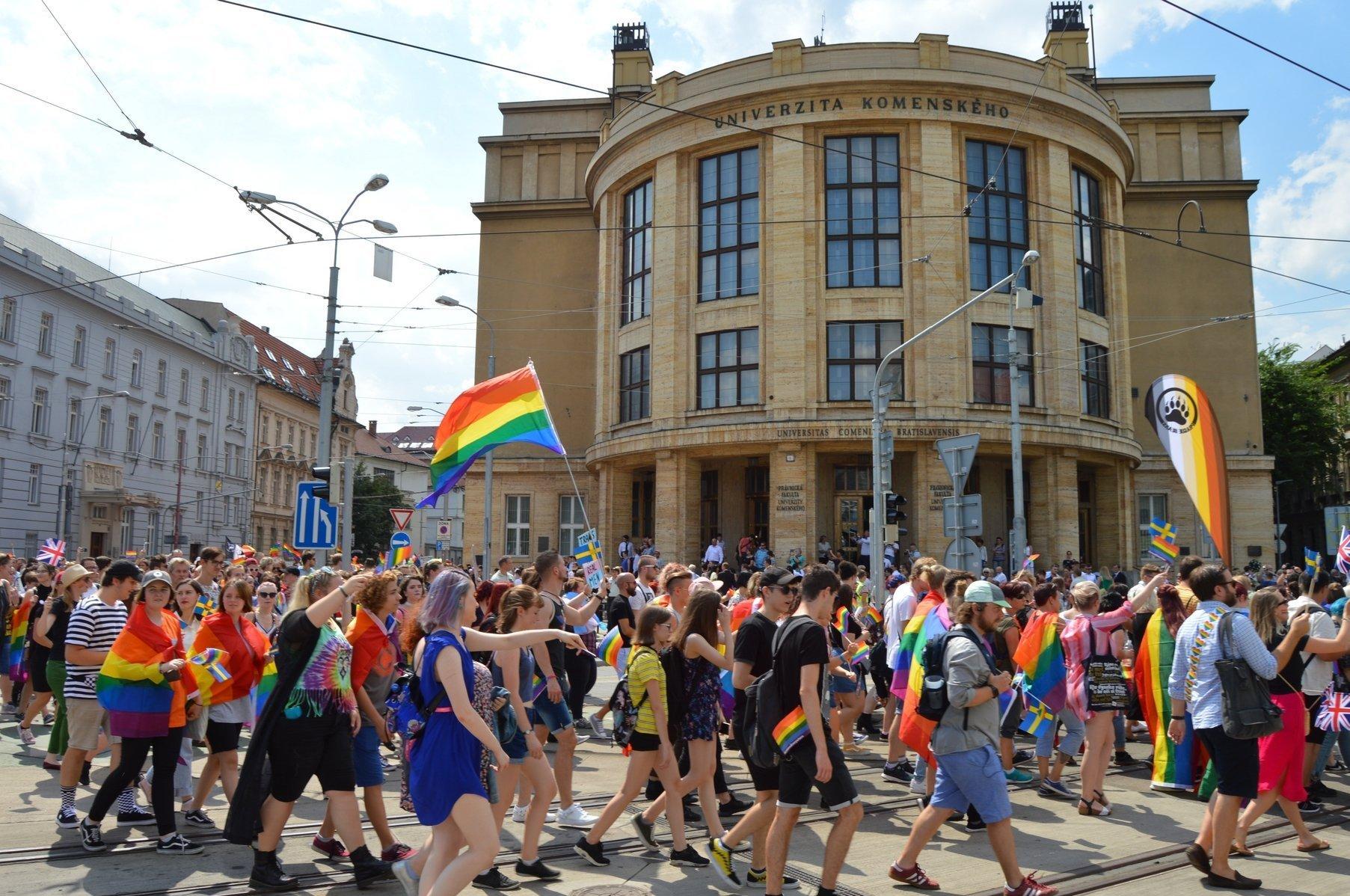 Pochod za práva LGBT v Bratislavě