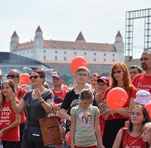 Pochod za rodinu v Bratislavě