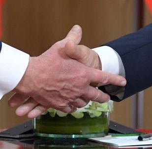 Během schůzky Donalda Trumpa a Vladimira Putina v Helsinkách
